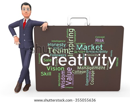 Creativity Words Meaning Designing Inventions And Imagination  - stock photo