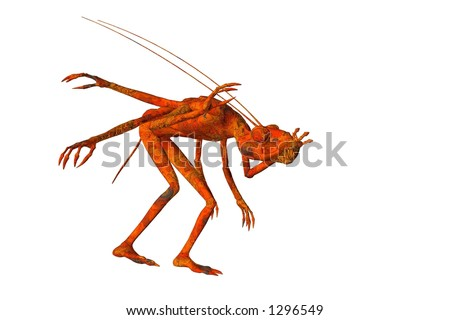 Creature isolated on a white background