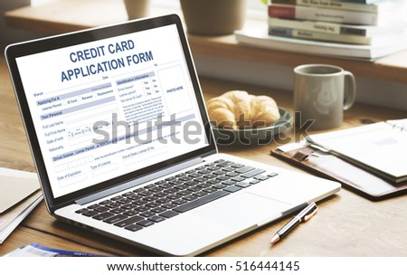 credit application form occupation career work stock photo edit now