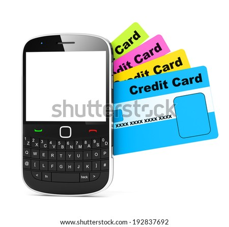 Credit card and phone.