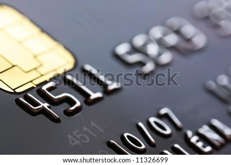 Credit card background, shallow DOF - stock photo