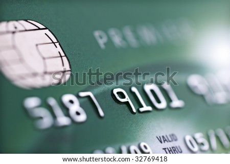 Credit card with a smart chip Stock Photos, Illustrations, and Vector ...