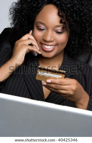Credit Card Businesswoman - stock photo