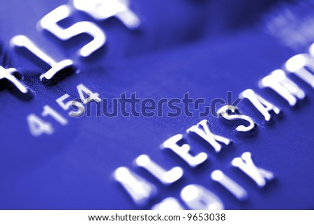 Credit Card Close-up, background