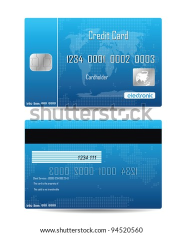 Credit Card Concept Isolated On White - stock photo