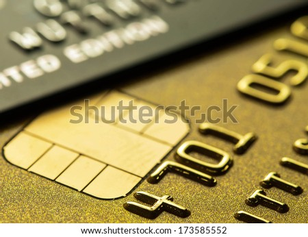 Credit card for background set low key shot. - stock photo