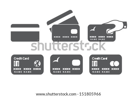 Credit card icons.  - stock photo