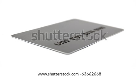 credit card isolated on white - stock photo