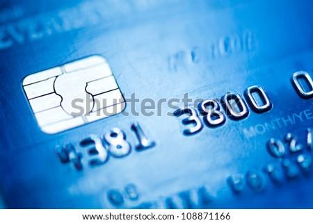 credit card, macro - stock photo