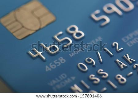 Credit card macro background - stock photo