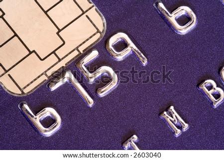 Credit card macro shot, high resolution, lots of detail - stock photo