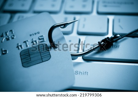 credit card phishing - stock photo