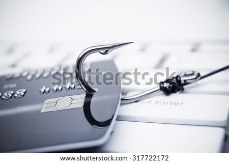 credit card phishing attack - stock photo