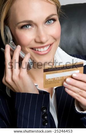 Credit Card Phone Shopping - stock photo