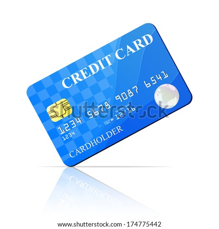 Credit Card. Raster version