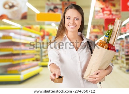Credit Card, Shopping, Customer. - stock photo