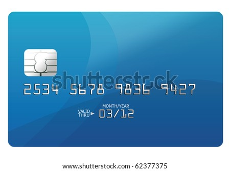 Credit card template - stock photo