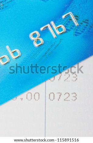 Credit card with bankbook. - stock photo