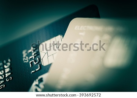 Credit Cards Closeup Photo. Financial and Banking Concept - stock photo