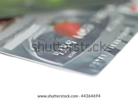 Credit cards isolated on the white background