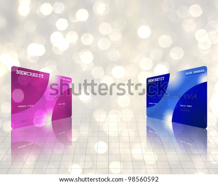 Credit cards not actual credit cards - stock photo