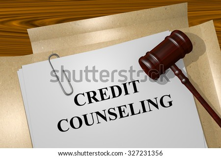 Credit counseling Title On Legal Documents - stock photo