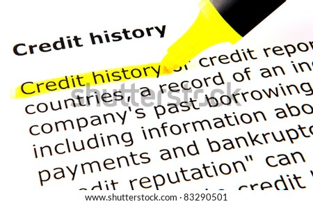 Credit history - stock photo