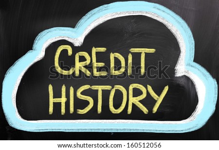 Credit History Concept - stock photo