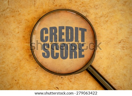 Credit score - stock photo