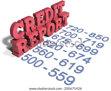 Credit union financial services list checking saving IRA CDs - stock photo