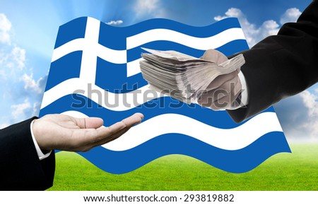 Creditors offer more loan, Greece�s Debt Crisis concept - stock photo