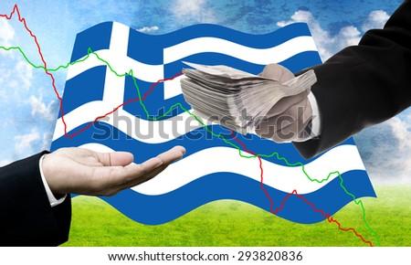 Creditors offer more loan, Greece�s Debt Crisis concept - stock photo