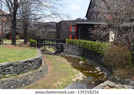 Creek at Maker's Mark Distillery - stock photo