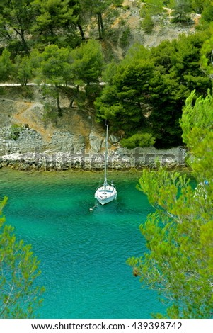 Creek, Cassis, France