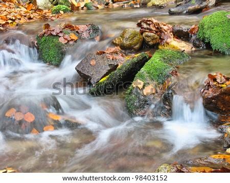 creek in autumn - stock photo