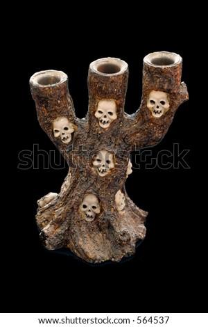 creepy candle holder - stock photo