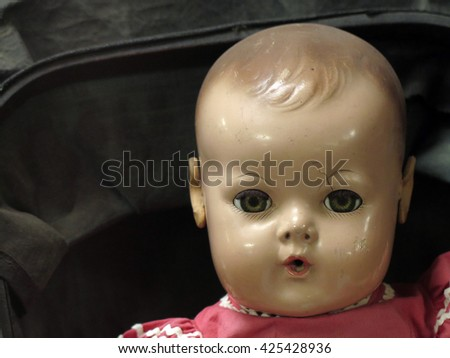 Creepy doll, off center