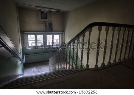 Creepy Stairs - stock photo
