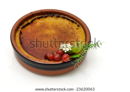 Creme brulee - stock photo