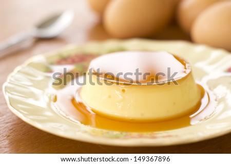 Creme or Cream Caramel Non sharpen file - stock photo