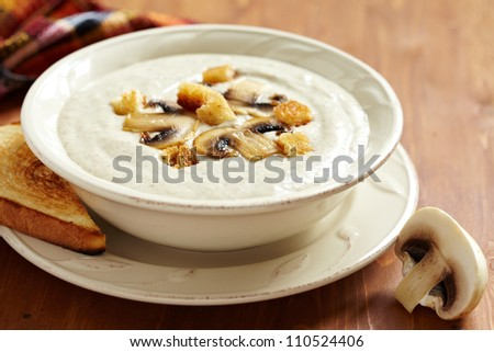 Creme soup with mushrooms and potato