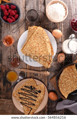 crepe and ingredient - stock photo