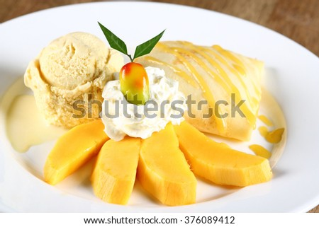 Crepe mango - stock photo