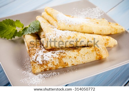Crepes - stock photo