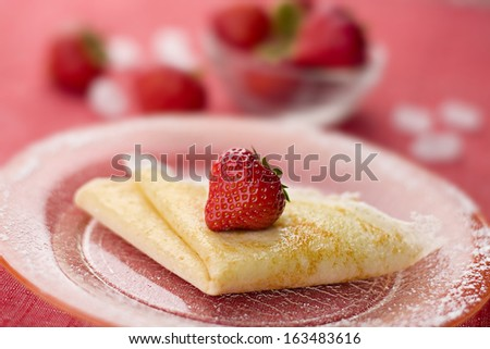 Crepes With Sweet Cheese