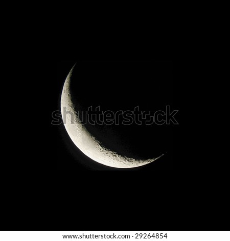 Crescent moon from original NASA photograph