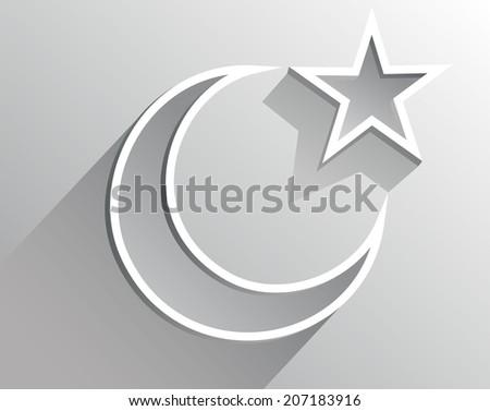 crescent moon holiday symbol - stock photo