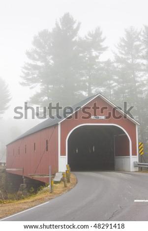 Cresson Crossing Covered Bridge (1859), Sawyers, New Hampshire, USA - stock photo