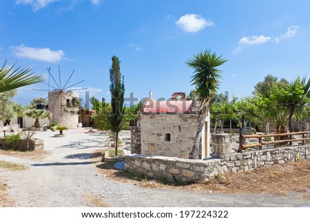 Crete - Greece - Agii Deka - stock photo