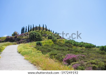 Crete - Greece - Agios Ioannis - stock photo